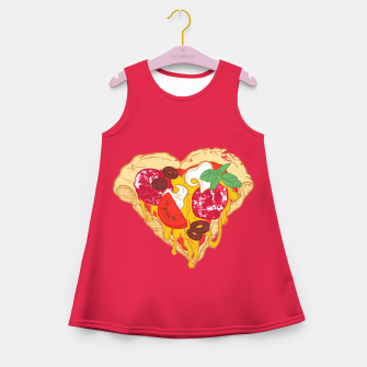 Miniaturka Pizza is my true Valentine Girl's Summer Dress, Live Heroes