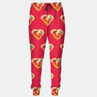 Thumbnail image of Pizza is my true Valentine Sweatpants, Live Heroes