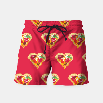 Thumbnail image of Pizza is my true Valentine Swim Shorts, Live Heroes