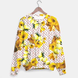 Miniatur yellow flowers Sweater, Live Heroes