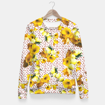Miniatur yellow flowers Fitted Waist Sweater, Live Heroes