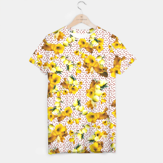 Miniatur yellow flowers T-shirt, Live Heroes