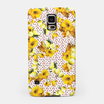 Miniatur yellow flowers Samsung Case, Live Heroes
