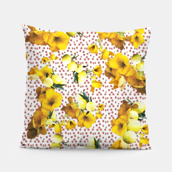 Miniatur yellow flowers Pillow, Live Heroes