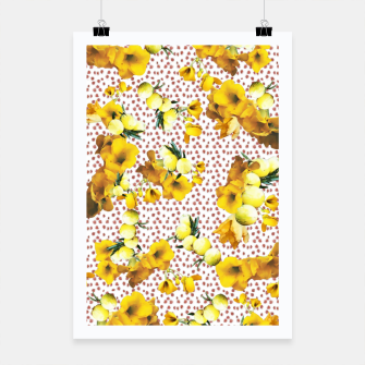Miniatur yellow flowers Poster, Live Heroes