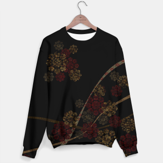 Thumbnail image of Japanese emblem art cherry blossoms black red Sweater, Live Heroes