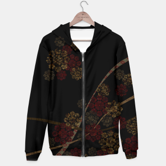 Thumbnail image of Japanese emblem art cherry blossoms black red Hoodie, Live Heroes