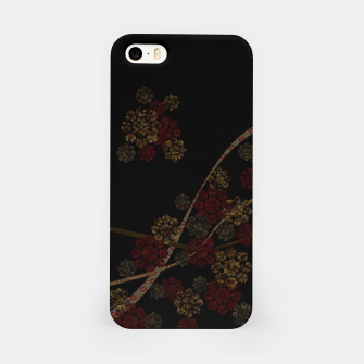 Thumbnail image of Japanese emblem art cherry blossoms black red iPhone Case, Live Heroes