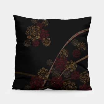 Thumbnail image of Japanese emblem art cherry blossoms black red Pillow, Live Heroes