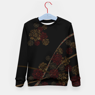 Thumbnail image of Japanese emblem art cherry blossoms black red Kid's Sweater, Live Heroes
