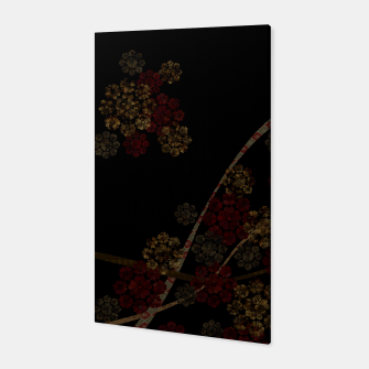 Thumbnail image of Japanese emblem art cherry blossoms black red Canvas, Live Heroes