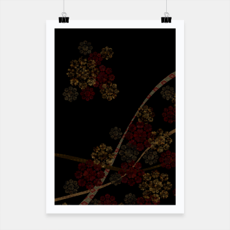 Thumbnail image of Japanese emblem art cherry blossoms black red Poster, Live Heroes