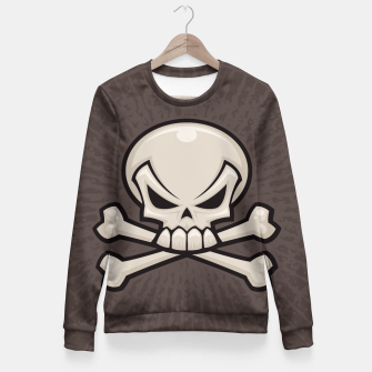 Miniatur Skull and Crossbones Fitted Waist Sweater, Live Heroes