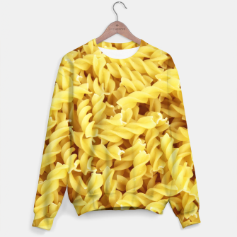 Thumbnail image of Yellow spiral pasta pattern Sweater, Live Heroes