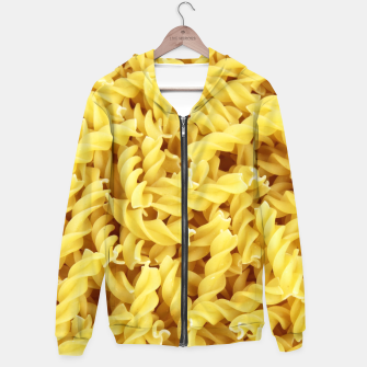 Thumbnail image of Yellow spiral pasta pattern Hoodie, Live Heroes
