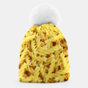 Thumbnail image of Yellow spiral pasta pattern Beanie, Live Heroes