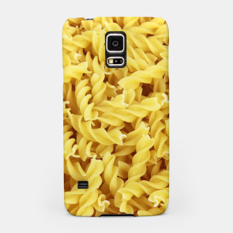 Thumbnail image of Yellow spiral pasta pattern Samsung Case, Live Heroes