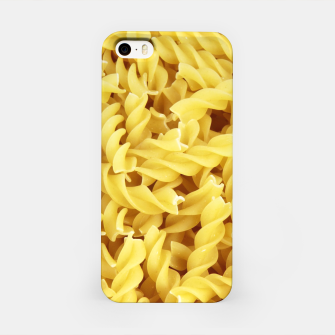 Thumbnail image of Yellow spiral pasta pattern iPhone Case, Live Heroes