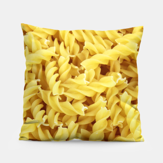 Thumbnail image of Yellow spiral pasta pattern Pillow, Live Heroes