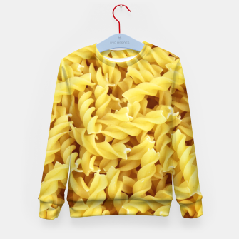 Thumbnail image of Yellow spiral pasta pattern Kid's Sweater, Live Heroes
