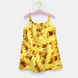 Thumbnail image of Yellow spiral pasta pattern Girl's Dress, Live Heroes