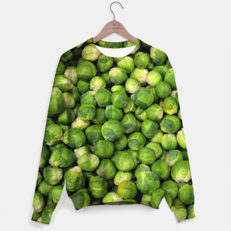 Thumbnail image of Green Brussels sprout vegetable pattern Sweater, Live Heroes