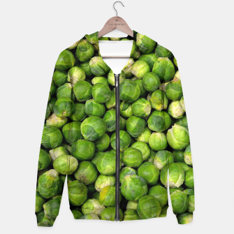 Thumbnail image of Green Brussels sprout vegetable pattern Hoodie, Live Heroes