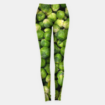 Thumbnail image of Green Brussels sprout vegetable pattern Leggings, Live Heroes