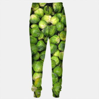 Thumbnail image of Green Brussels sprout vegetable pattern Sweatpants, Live Heroes