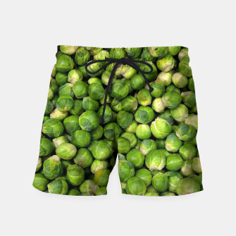 Thumbnail image of Green Brussels sprout vegetable pattern Swim Shorts, Live Heroes