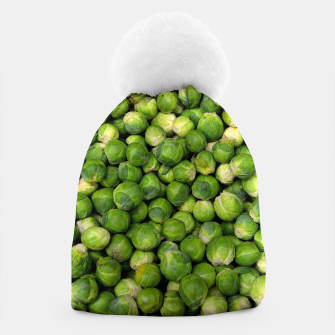 Thumbnail image of Green Brussels sprout vegetable pattern Beanie, Live Heroes