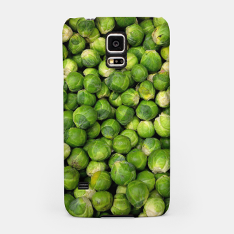 Thumbnail image of Green Brussels sprout vegetable pattern Samsung Case, Live Heroes