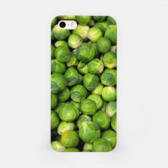 Thumbnail image of Green Brussels sprout vegetable pattern iPhone Case, Live Heroes