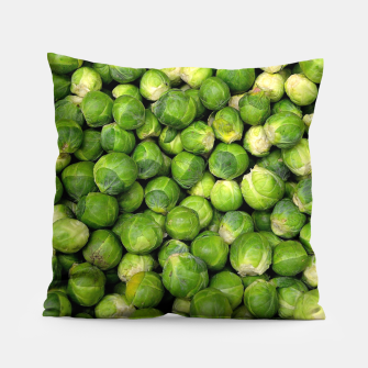 Thumbnail image of Green Brussels sprout vegetable pattern Pillow, Live Heroes