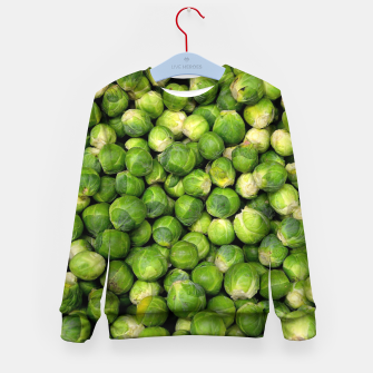 Thumbnail image of Green Brussels sprout vegetable pattern Kid's Sweater, Live Heroes