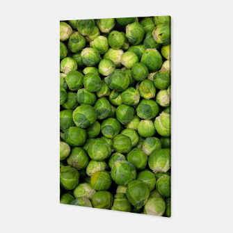 Thumbnail image of Green Brussels sprout vegetable pattern Canvas, Live Heroes