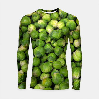 Thumbnail image of Green Brussels sprout vegetable pattern Longsleeve Rashguard , Live Heroes