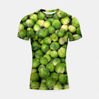 Thumbnail image of Green Brussels sprout vegetable pattern Shortsleeve Rashguard, Live Heroes