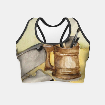 Thumbnail image of painting workshop Crop Top, Live Heroes