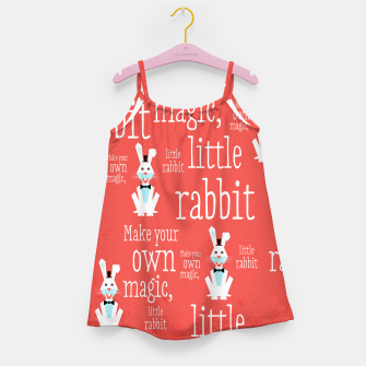 Thumbnail image of Make your own magic, little rabbit –  Girl's Dress, Live Heroes