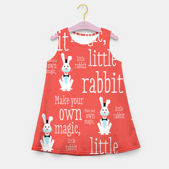 Thumbnail image of Make your own magic, little rabbit –  Girl's Summer Dress, Live Heroes