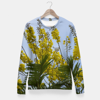 Thumbnail image of Yellow flowers Fitted Waist Sweater, Live Heroes
