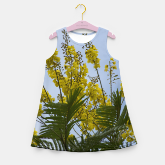Thumbnail image of Yellow flowers Girl's Summer Dress, Live Heroes