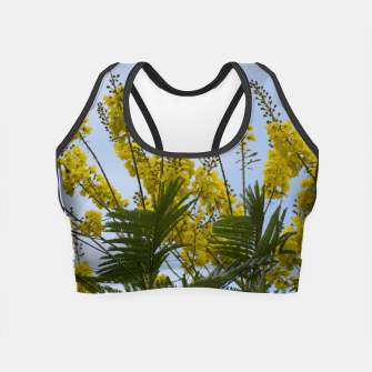Thumbnail image of Yellow flowers Crop Top, Live Heroes