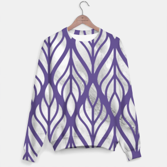 Thumbnail image of Ultraviolet Floral Pattern Sweater, Live Heroes