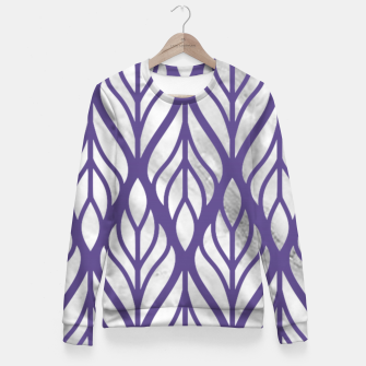 Thumbnail image of Ultraviolet Floral Pattern Fitted Waist Sweater, Live Heroes