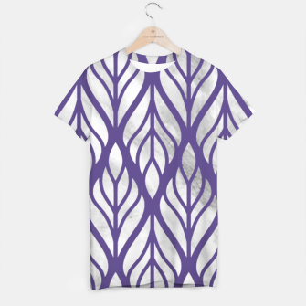 Thumbnail image of Ultraviolet Floral Pattern T-shirt, Live Heroes