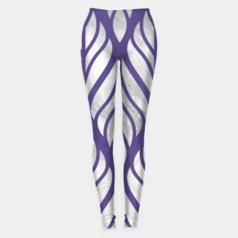Thumbnail image of Ultraviolet Floral Pattern Leggings, Live Heroes