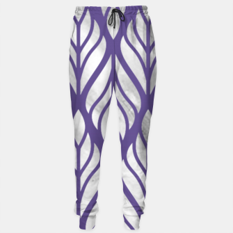 Thumbnail image of Ultraviolet Floral Pattern Sweatpants, Live Heroes
