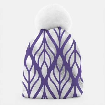 Thumbnail image of Ultraviolet Floral Pattern Beanie, Live Heroes